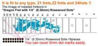 Dragon Fret Markers with Rosewood Dots Inlay Stickers Decals Guitar